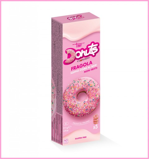 3 pcs strawberry donuts box