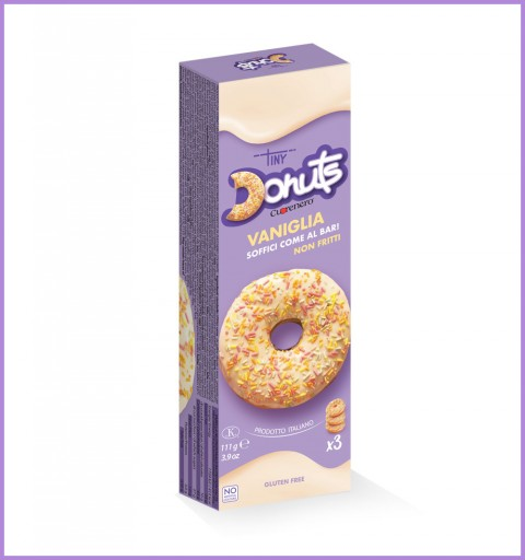 3 pcs vanilla donuts box